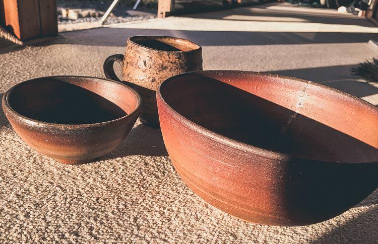 岡山県の備前焼の食器