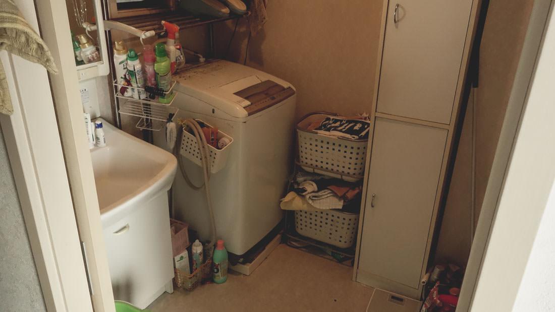 出張ミニマリストの洗面所